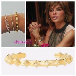 stella & dot ~ gold pyramid stud cuff bracelet
